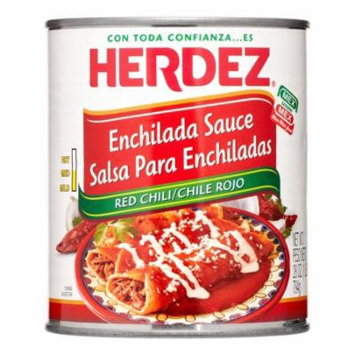 Herdez Enchilada Sauce, Red Chili, Medium, 28 Oz