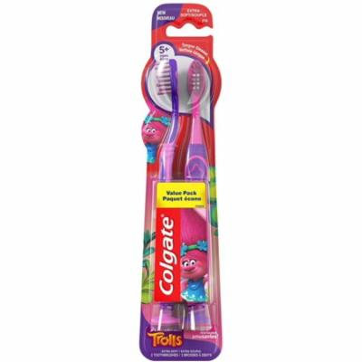 2 Pack - Colgate Kids Toothbrushes Trolls 2 ea