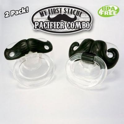 Billy-Bob 'My First Stache' Pacifier (Pack of 4)