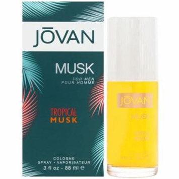 6 Pack - Jovan Tropical Musk Cologne Spray 3.0 oz