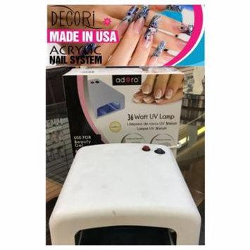 LWS LA Wholesale Store 36 Watt Gel Curing Adoro Decori UV Lamp Gel Nail Polish like mia secret