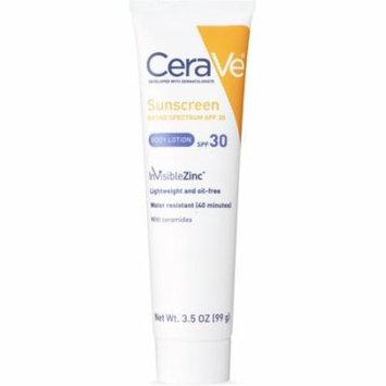 2 Pack - CeraVe Sunscreen Body Lotion SPF 30 3.5 oz