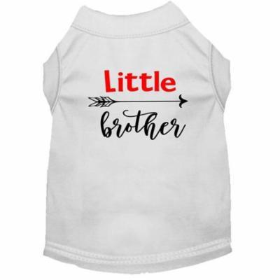 Little Brother Screen Print Dog Shirt White XL