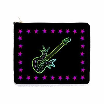 Rock Star Guitar and Stars - Double Sided 6.5
