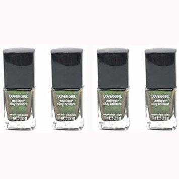 Lot of 4 CoverGirl Outlast Stay Brilliant Nail Gloss Emerald Blaze #50 - 0.37 fl oz bottle 04618122