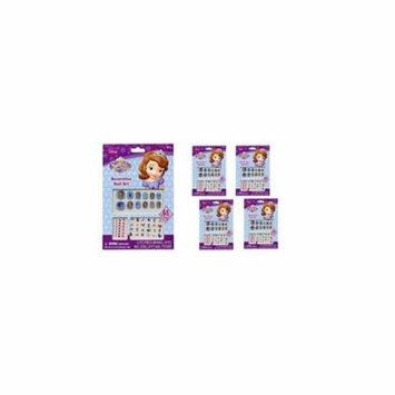 Sofia the First 65 pcs Decorative Nail Art Nail Stickers and Gems x 4 packs
