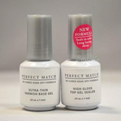 Lechat Perfect Match High Gloss Top Gel Sealer + Untra-Thin Base Gel 0.25oz