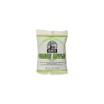 Claey's, Old Fashioned Hard Candy Green Apple, 6 Ounce Bag