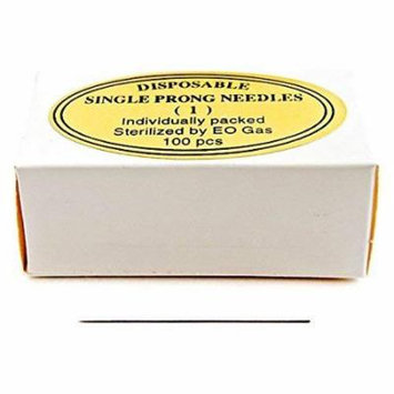 KP Permanent Makeup Disposable Single Prong Needles - Round (Box of 100 pieces) by KP