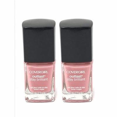 Set of 2 New CoverGirl Outlast Nail Gloss Bon Bon 141 Shiny Nail Polish 0.37 fl oz