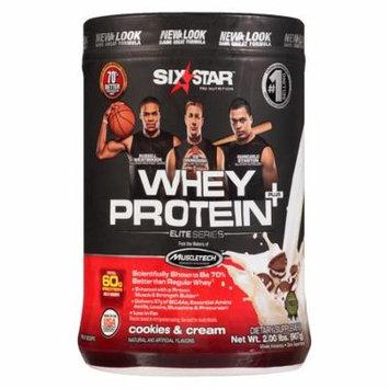 Six Star Whey Protein Plus, Elite Series Cookies & Cream2.0 lb(pack of 3)