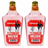 Clubman Musk After Shave Cologne 6oz (Pack of 2)