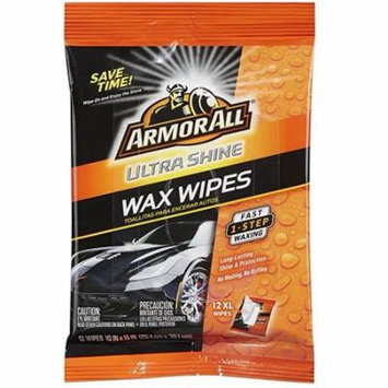Armor All Ultra Shine Wax Wipes, 12 Count (Pack of 3)