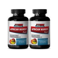 Reduce food cravings - AFRICAN MANGO EXTRACT with Green Tea, Resveratrol, Kelp, Grapefruit 1200 Mg - Pure african mango - 2 Bottles 120 capsules