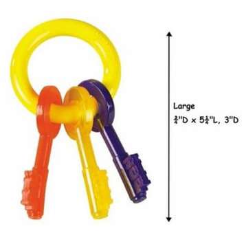 Puppy Teething Toy Key Ring Colorful Safe For Puppies Dogs to Chew - Choose Size (Large)