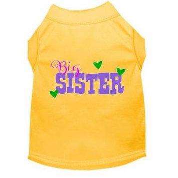 Big Sister Screen Print Dog Shirt Yellow Med