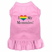 I Heart my Mommies Screen Print Dog Dress Light Pink 4X