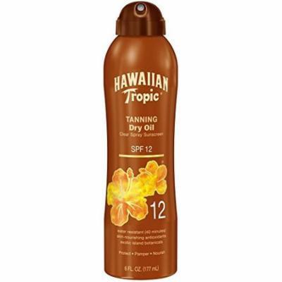 4 Packs Hawaiian Tropic Tanning Dry Sunscreen SPF 12 6oz Each