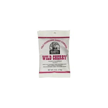 Claey's, Old Fashioned Hard Candy Wild Cherry, 6 Ounce Bag