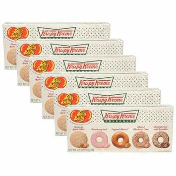 (Set/6) Jelly Belly Krispy Kreme Doughnuts - 4.25oz Per Gift Box - 5 Flavors