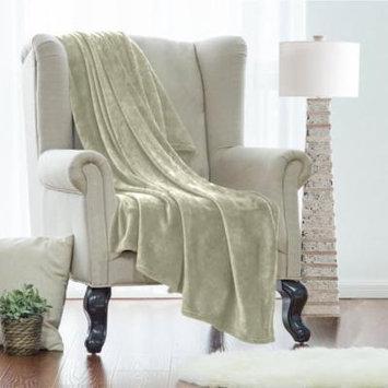 Twin Fleece Super Soft Warm Fuzzy Plush Couch Blanket, Extra Soft Brush Fabric, Lightweight Super Warm Bed Blanket (66-Inch-By-90-Inch) Sage Green, By Clara Clark