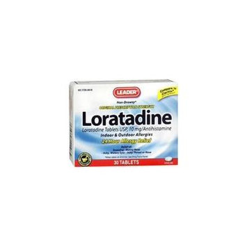 Leader Loratadine Allergy 24Hr Tablets, 10mg, 30ct 096295126129A400