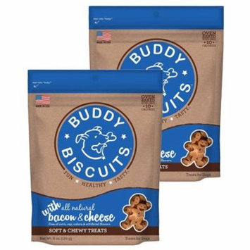 Cloud Star Buddy Biscuits 6 oz Soft & Chewy Dog Treats - Bacon & Cheese 2 Pack
