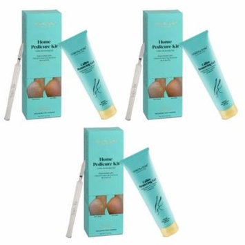 Simon & Tom Home Pedicure Kit Callus Removing Gel for Feet 100ml / 3.4 fl.oz (Pack of 3) + Yes to Tomatoes Moisturizing Single Use Mask
