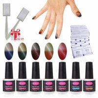 CLAVUZ Gel Nail Polish Sets 5pcs Color Changing Nail Polish Top and Base Coat with 50 pcs Remover Soak Off UV LED Nail Art Kit 8ml Fantastic Varnish Set C005