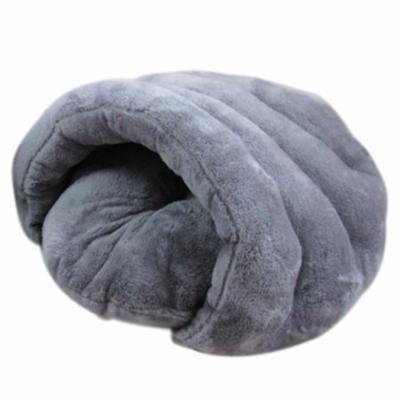 Pet Cat Dog Sleeping Bag Cushion Warm Comfortable House Kennel Bed 60*50*40cm - Grey