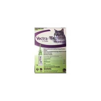 Vectra Flea and Tick Remedy topical Spot on For Cats & Kitten Over 9 Lbs 6 Doses