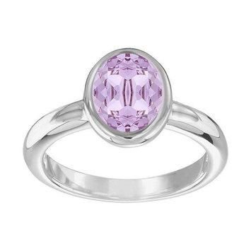 Swarovski Violet Crystal LASER RING Large/58/8 Rhodium #5120600