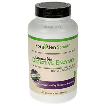 Healthy Chewable Digestive Enzymes - All Natural Mixed Berry Flavored Supplement w/Xylitol - 90 Tablets - Supports Healthy Digestive Function