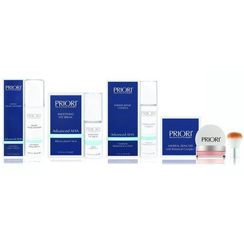 Priori Ultimate Face Radiance Value Set, Gentle Facial Cleanser (180 ml) + Barrier Repair Complex (50ml) + Eye Serum (15ml) + Finishing Touch, Skincare Gift Set, Proven Results