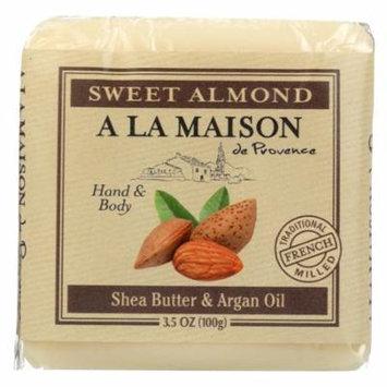 A La Maison Bar Soap - Sweet Almond - Case Of 6 - 3.5 Oz