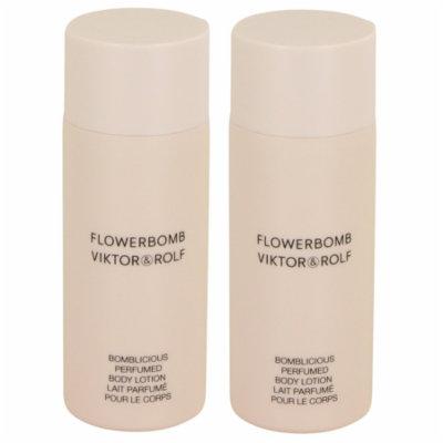 FLOWERBOMB 0.5 oz Body Lotion for Women by Viktor & Rolf (PACK 2)