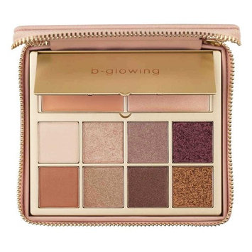b-glowing Illuminate + Shine Eyeshadow Palette 8 Matte and Shimmer Colors + Brightening Eye Shadow Primer and Highlighter