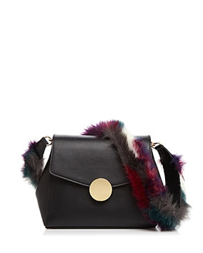 Street Level Faux-Fur Strap Shoulder Bag
