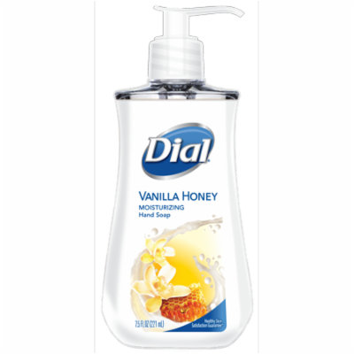 (4 pack) Dial Liquid Hand Soap, Vanilla Honey, 7.5 Oz