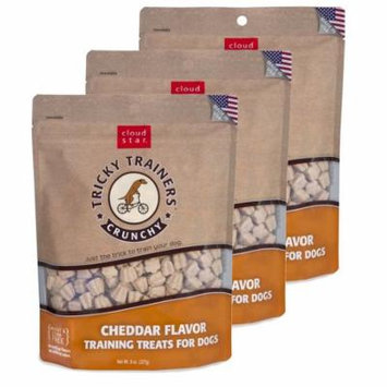 Cloud Star Chewy Tricky Trainers Cheddar 8 oz Dog Treats 3 Pack