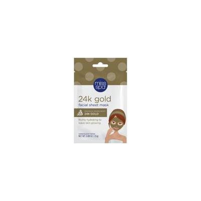 Miss Spa Restore and Brighten 24k Gold Radiance Facial Sheet Mask - 1ct