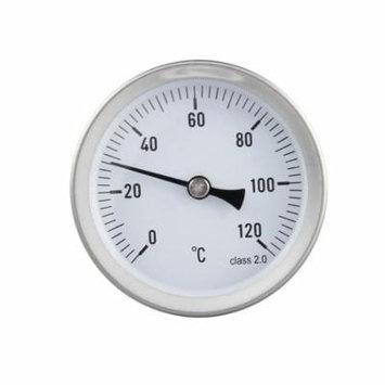 63mm Dial Thermometer Liquid Temperature Gauge 0-120°C Horizontal Mounting