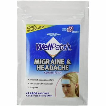 2 Pack - WellPatch Migraine & Headache Cooling Patch 4 ea