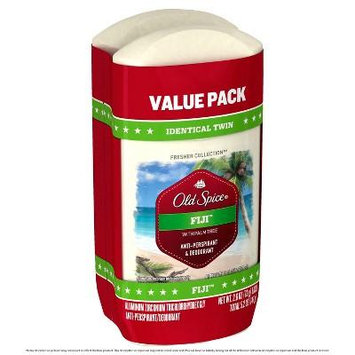 Old Spice Fresher Collection Fiji Invisible Solid Antiperspirant and Deodorant Twin Pack - 5.2oz