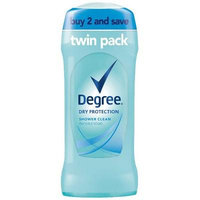 Degree Dry Protection Shower Clean Antiperspirant Deodorant - 2pk - 2.6oz