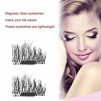 4Pcs/2Pairs 3D Magnetic False Eyelashes Natural Thick Long Cosmetic Eye Lashes on Clearance