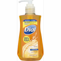 (4 pack) Dial Antibacterial Hand Soap with Moisturizer, Gold, 9.375 Oz