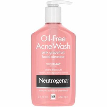 4 Pack - Neutrogena Oil-Free Salicylic Acid Pink Grapefruit Pore Cleansing Acne Wash and Facial Cleanser with Vitamin C