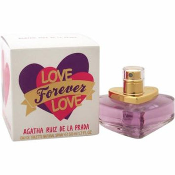 4 Pack - Agatha Ruiz De La Prada Love Forever Love Eau de Toilette Spray for Women 1.7 oz