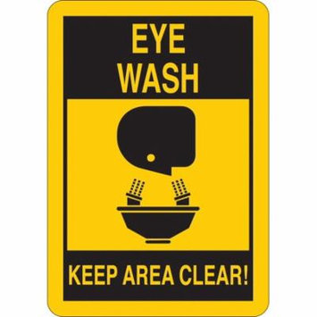 Keep Clear, Eye Wash, Aluminum, 14
